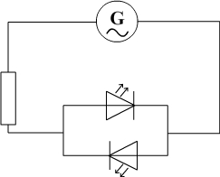 LED receiving an alternating current