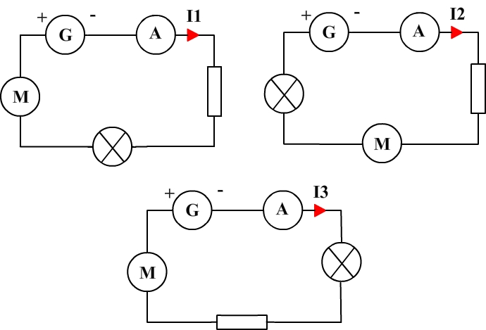 Current in series circuits and order of connection